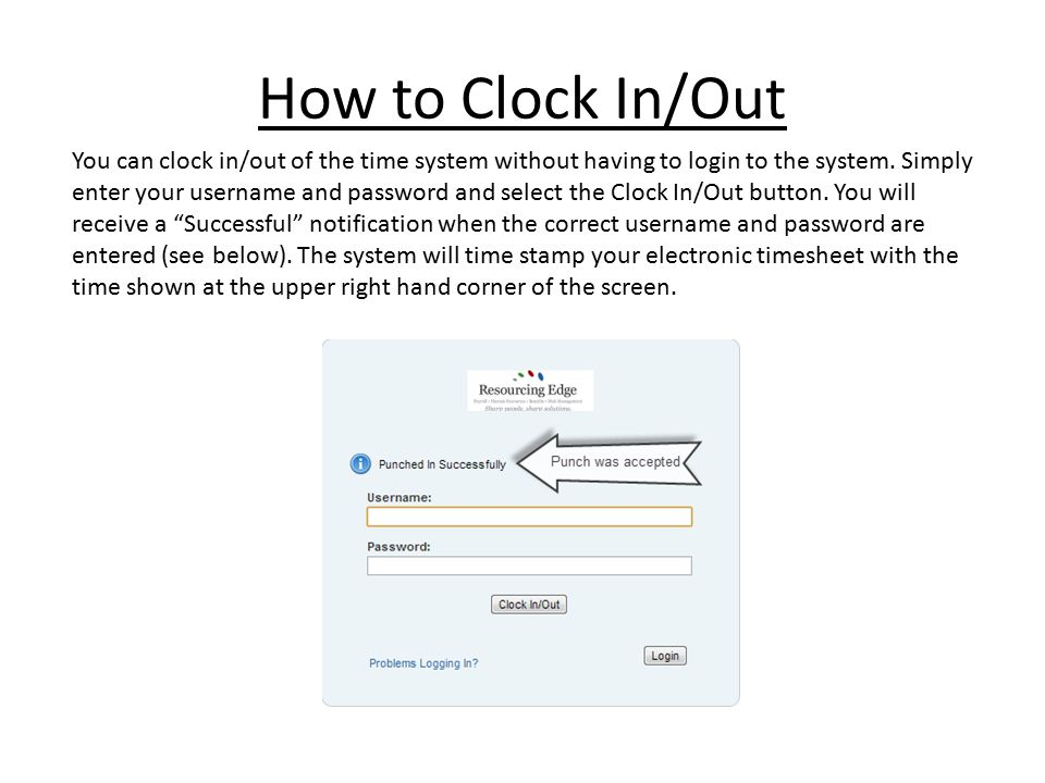 How to Clock In/Out