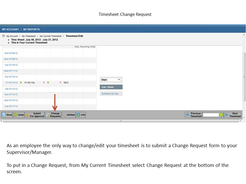 Timesheet Change Request
