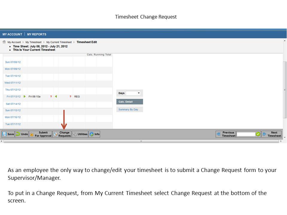 Timesheet Change Request