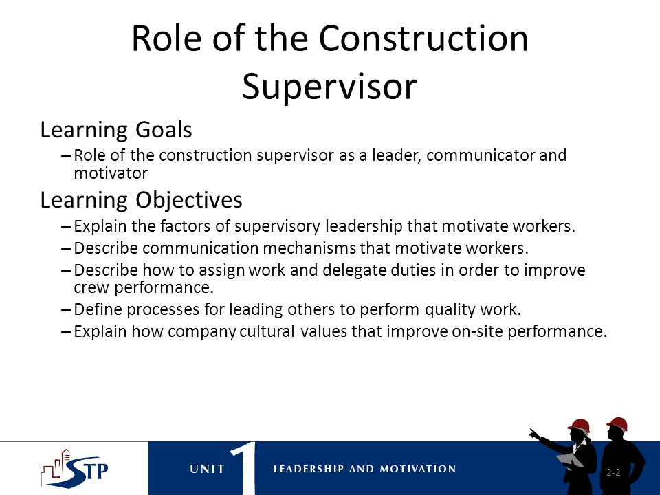 Role of the Construction Supervisor