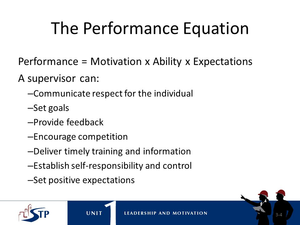 The Performance Equation