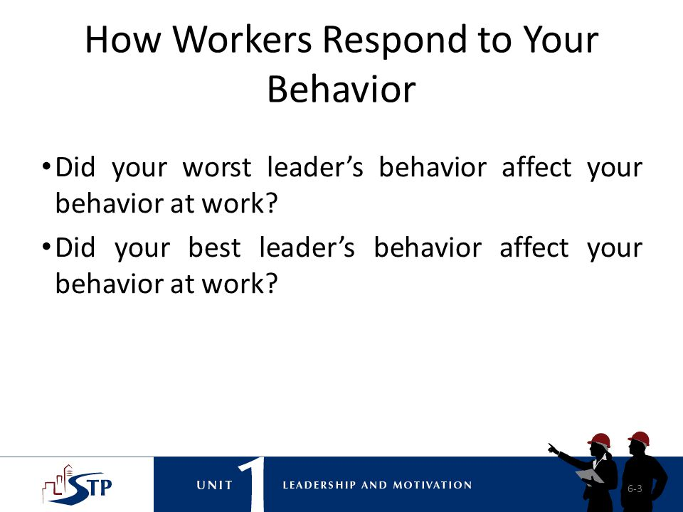 How Workers Respond to Your Behavior
