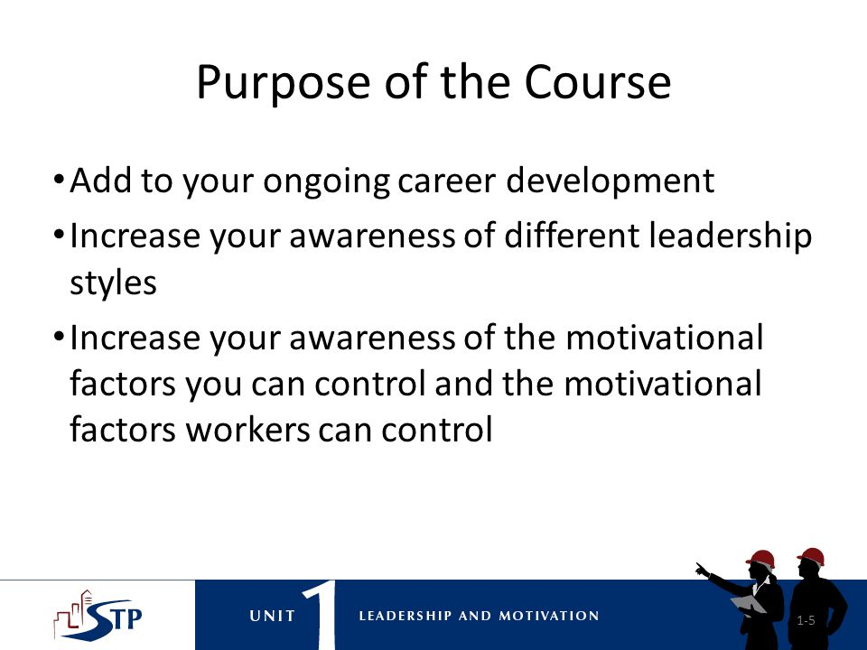 Purpose of the Course Add to your ongoing career development