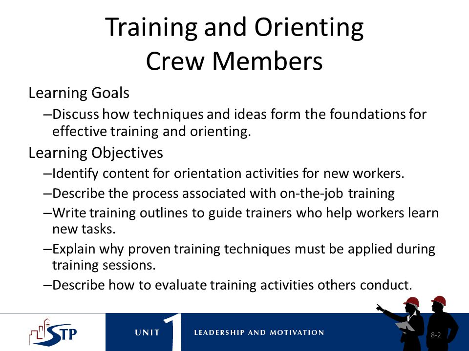 Training and Orienting Crew Members
