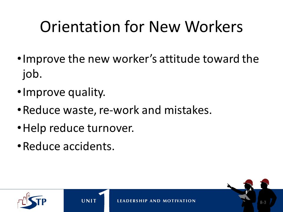 Orientation for New Workers