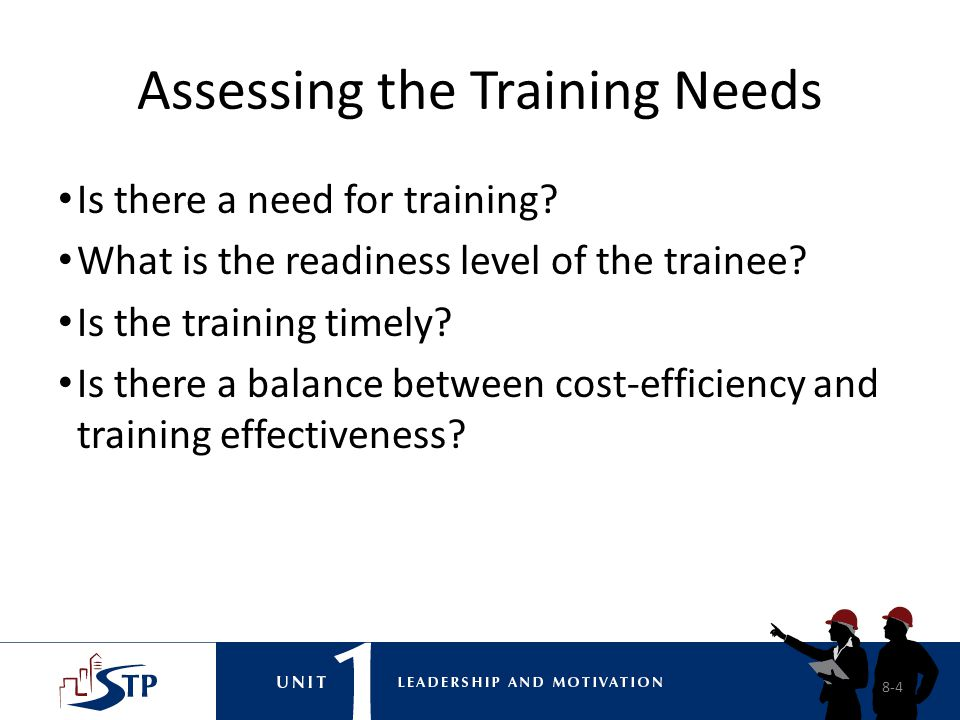 Assessing the Training Needs