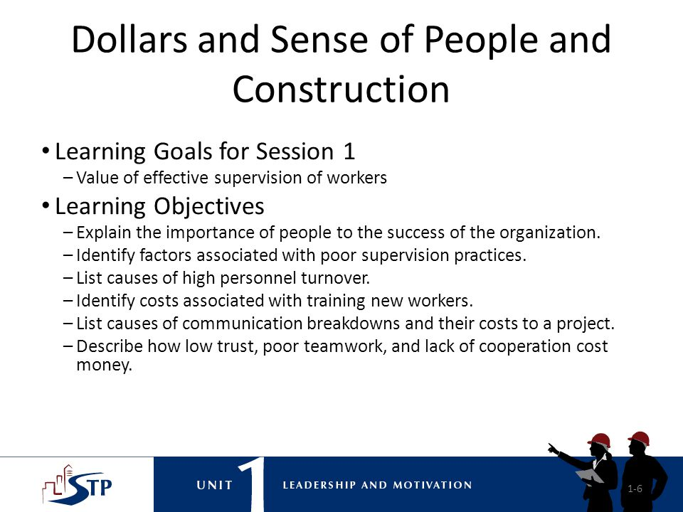 Dollars and Sense of People and Construction