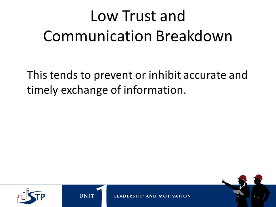 Low Trust and Communication Breakdown