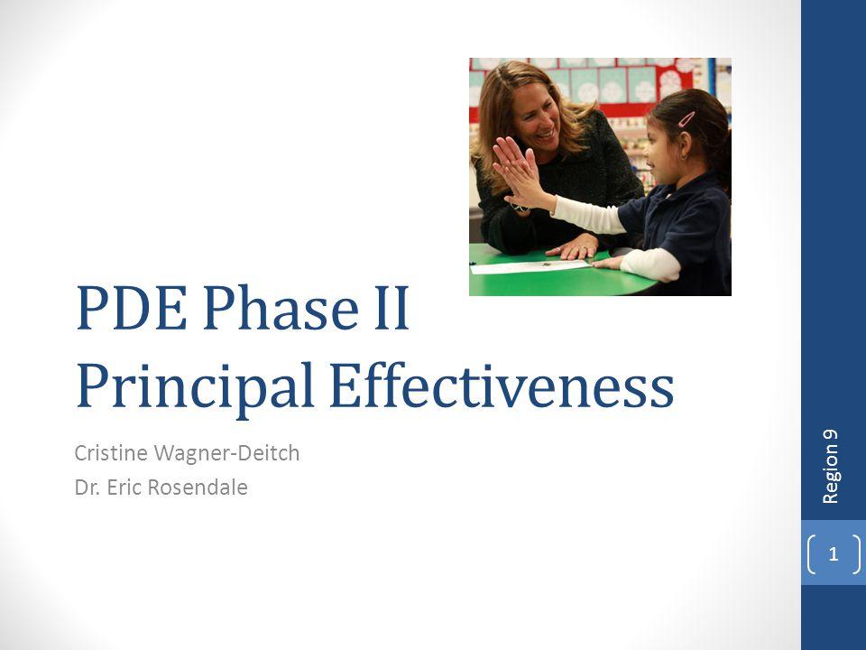 PDE Phase II Principal Effectiveness
