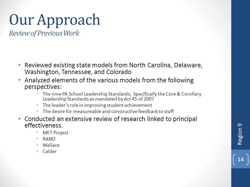 Our Approach Review of Previous Work