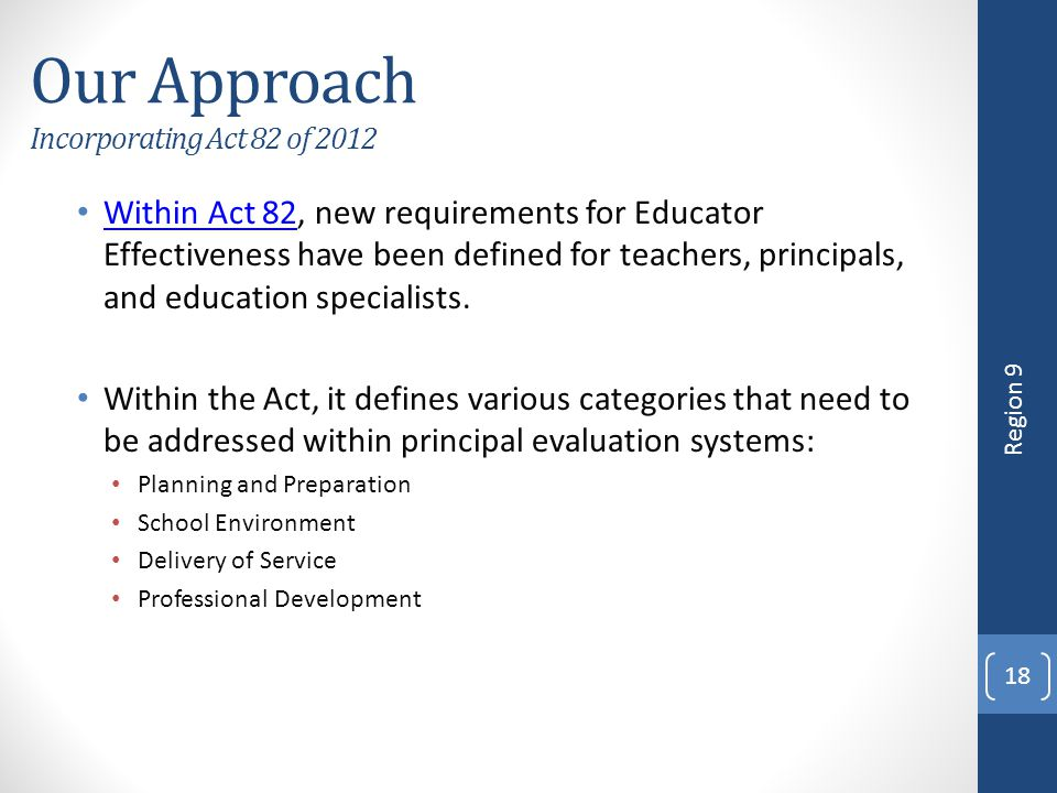 Our Approach Incorporating Act 82 of 2012