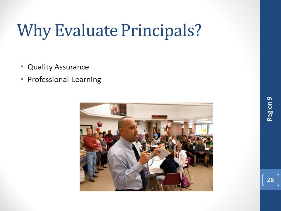 Why Evaluate Principals