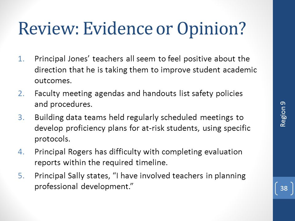 Review: Evidence or Opinion