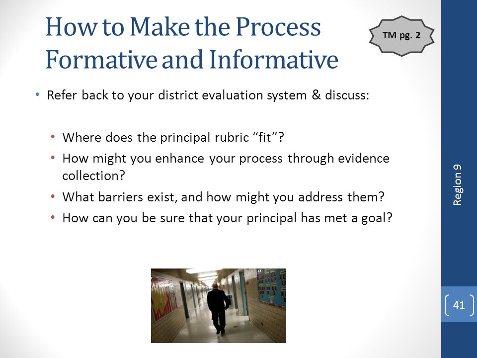 How to Make the Process Formative and Informative