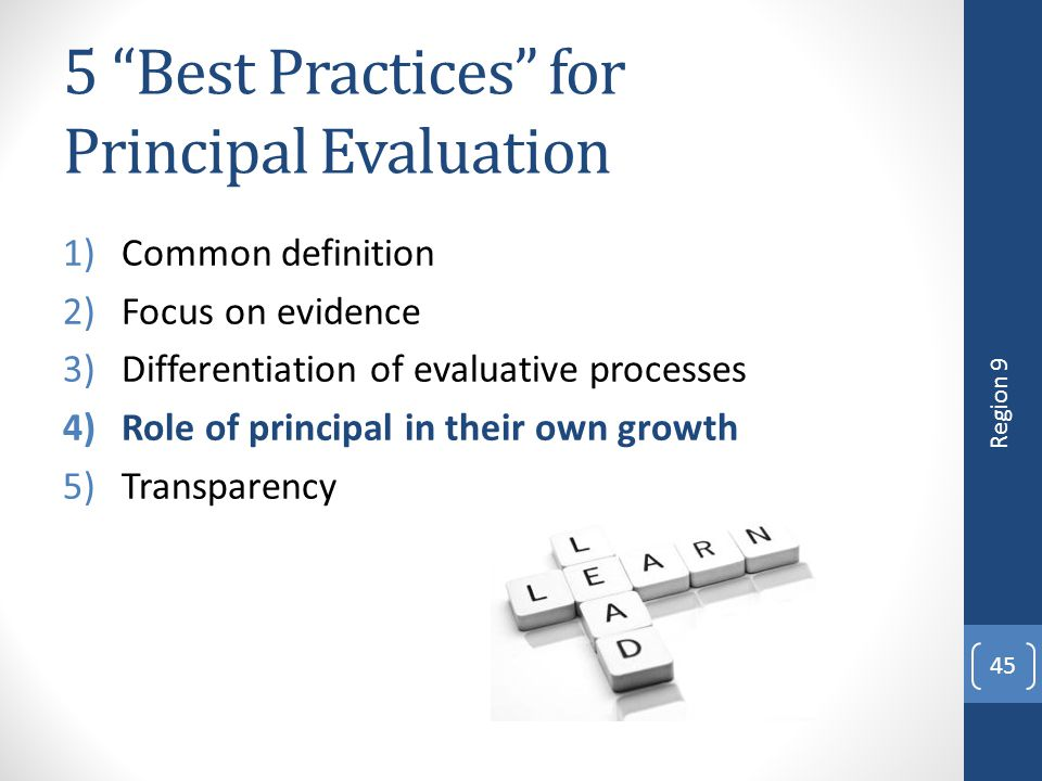 5 Best Practices for Principal Evaluation