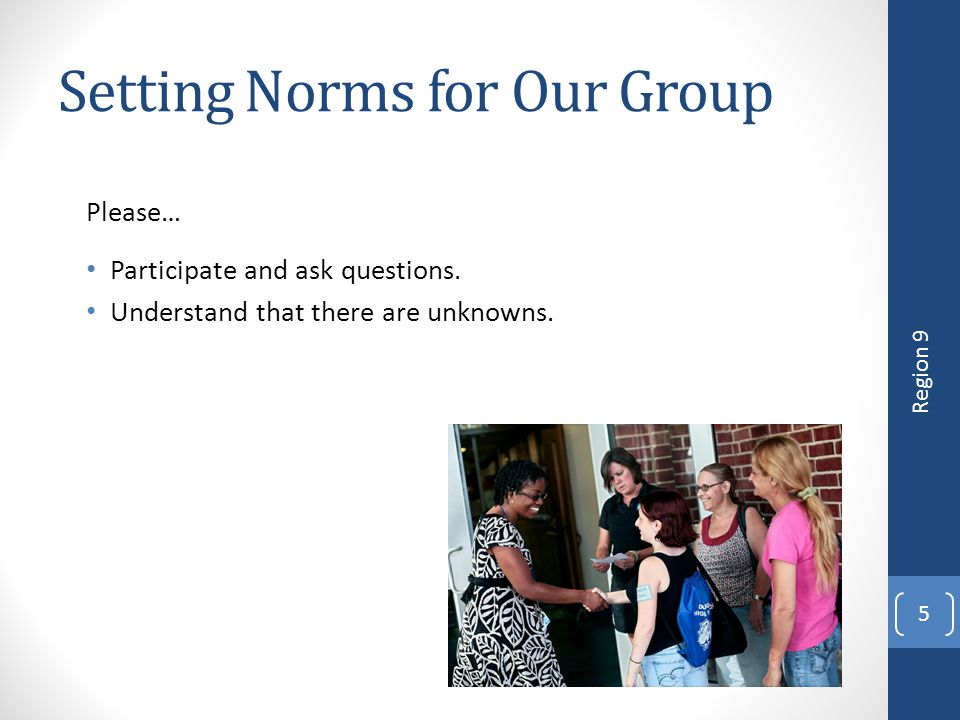 Setting Norms for Our Group