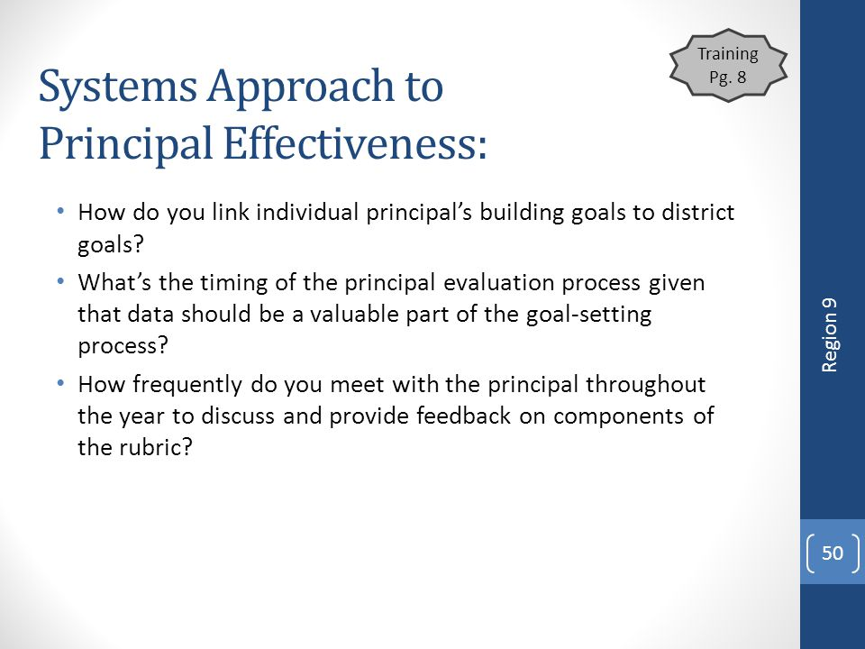 Systems Approach to Principal Effectiveness: