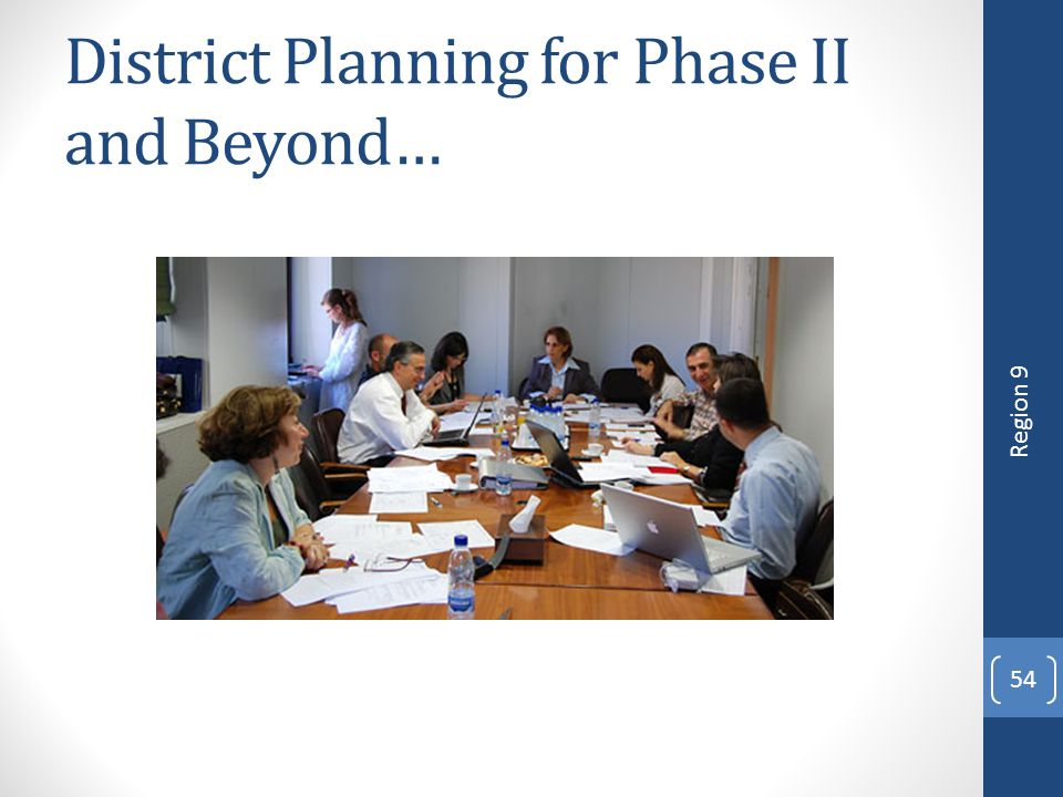 District Planning for Phase II and Beyond…