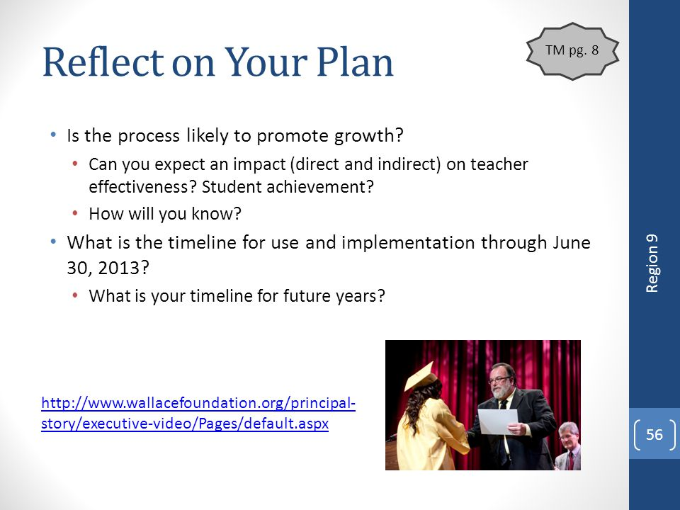 Reflect on Your Plan Is the process likely to promote growth
