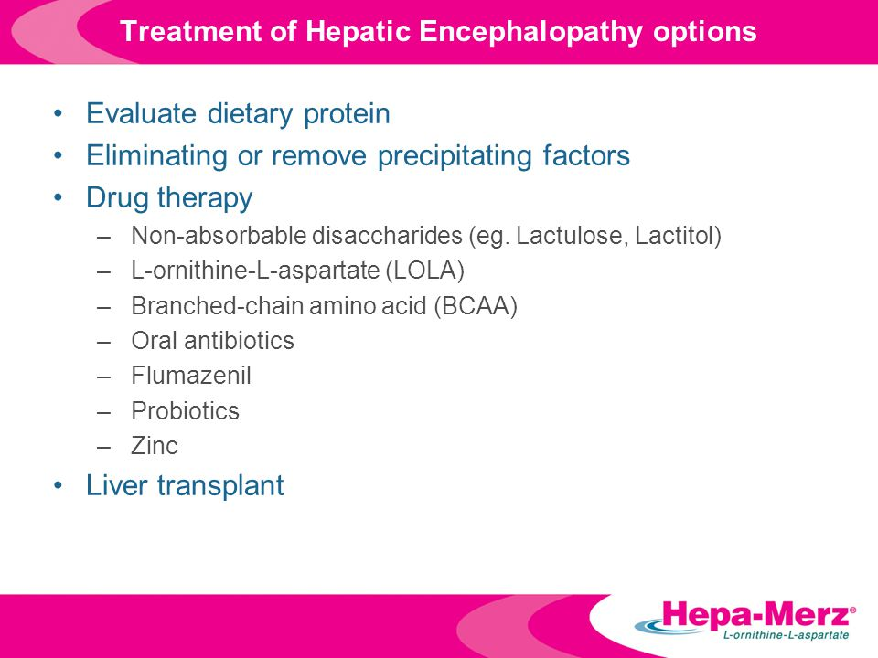 Treatment of Hepatic Encephalopathy options