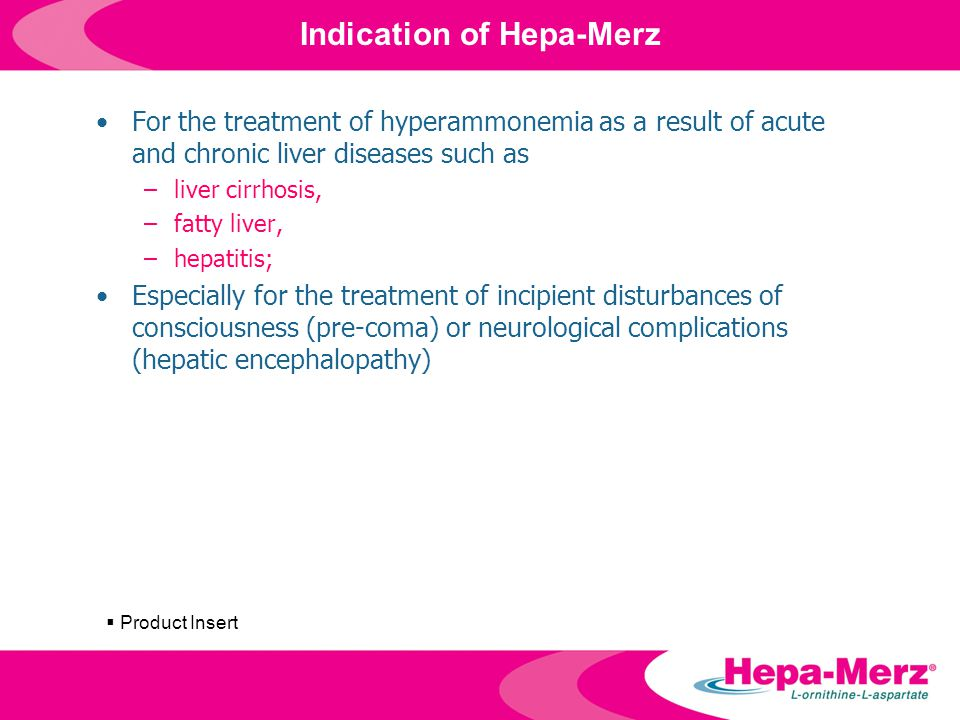 Indication of Hepa-Merz