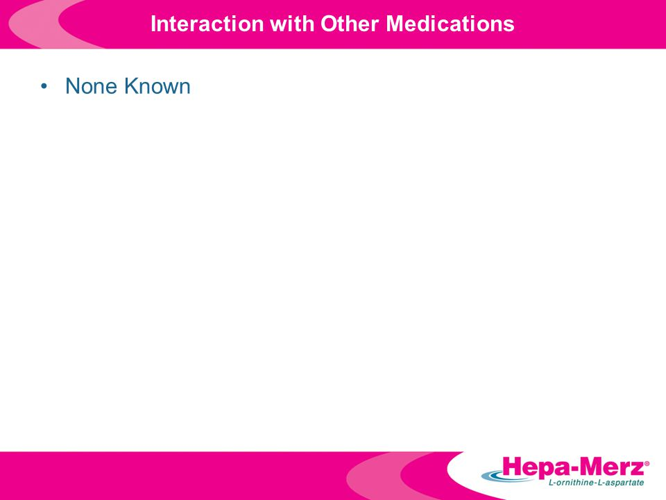 Interaction with Other Medications