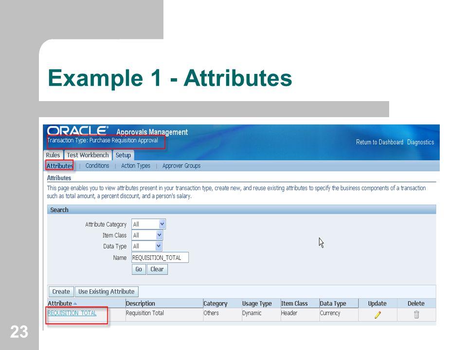 Example 1 - Attributes