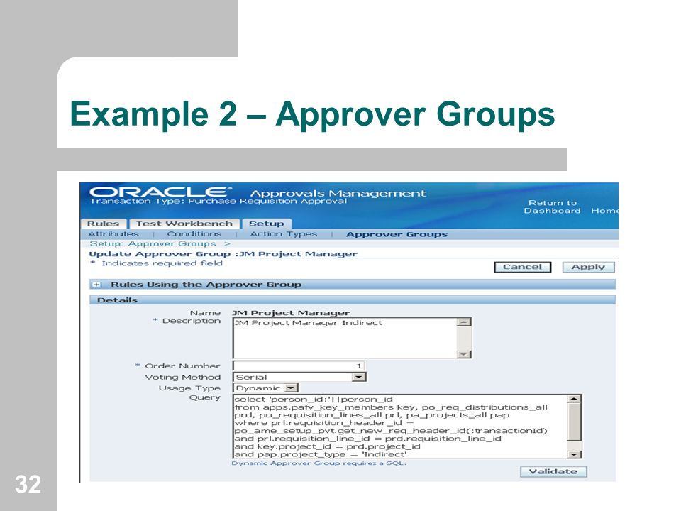 Example 2 – Approver Groups