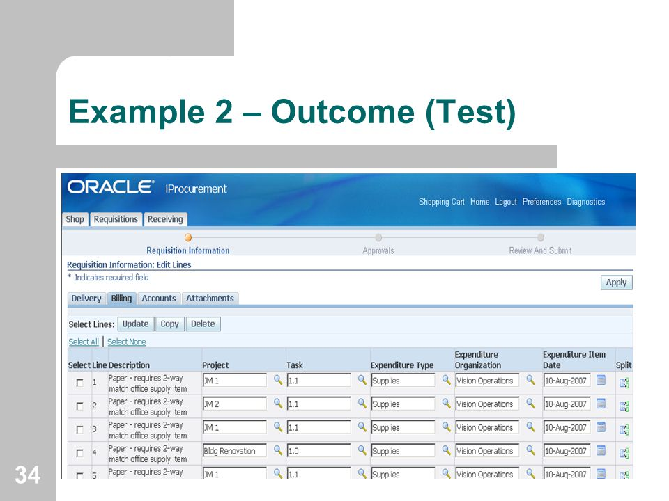 Example 2 – Outcome (Test)