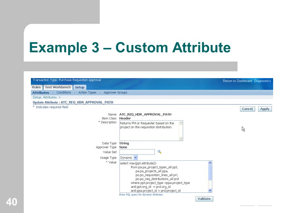 Example 3 – Custom Attribute