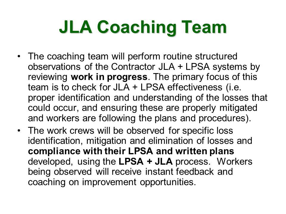 JLA Coaching Team