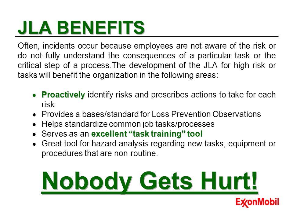 Nobody Gets Hurt! JLA BENEFITS