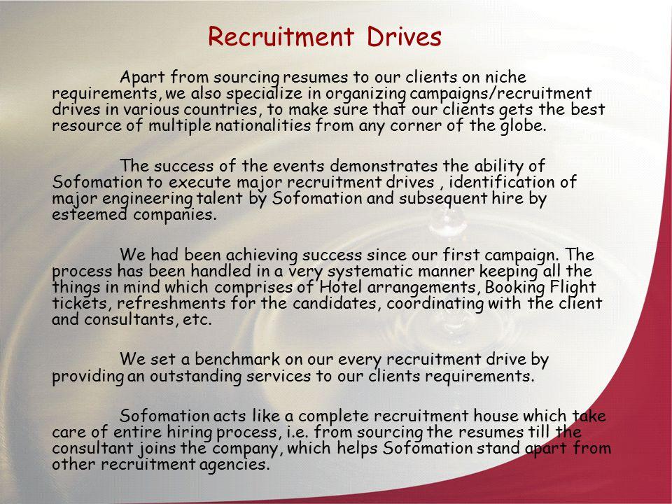 Recruitment Drives