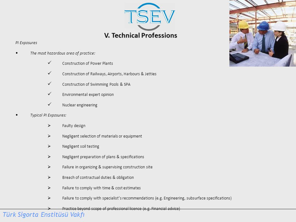 V. Technical Professions