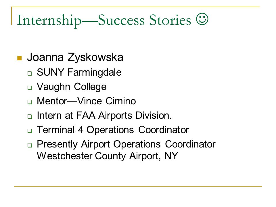 Internship—Success Stories 