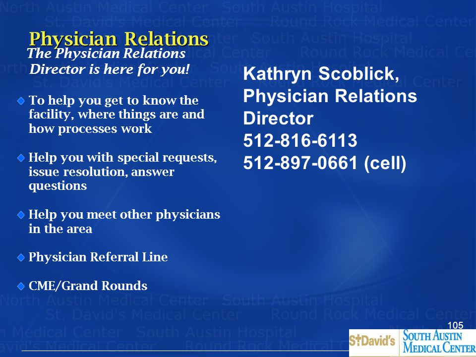 Kathryn Scoblick, Physician Relations Director
