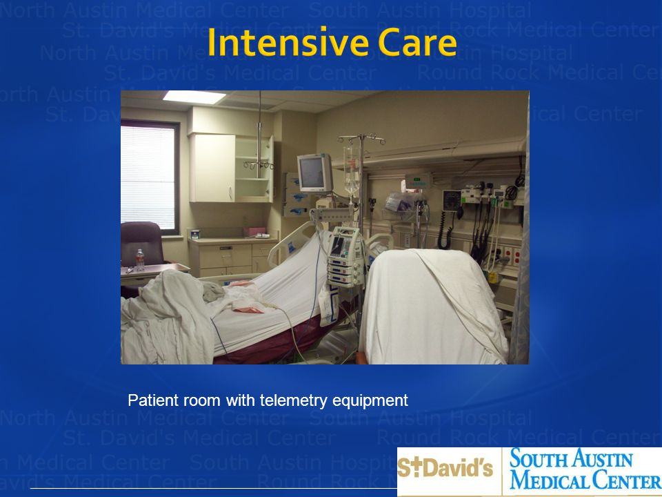 Patient room with telemetry equipment
