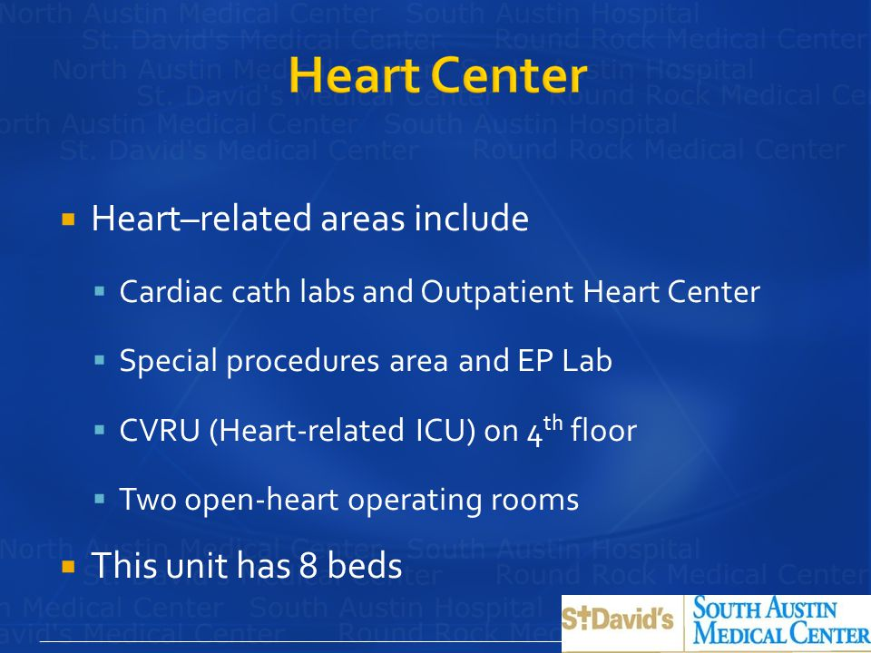Heart–related areas include
