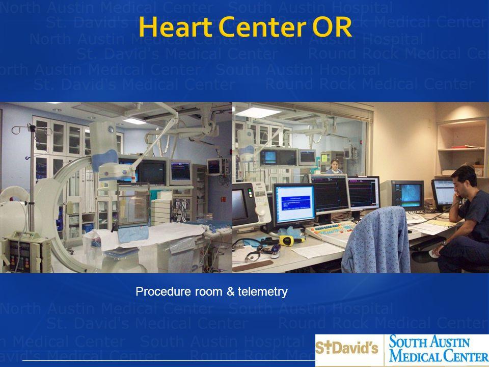 Procedure room & telemetry