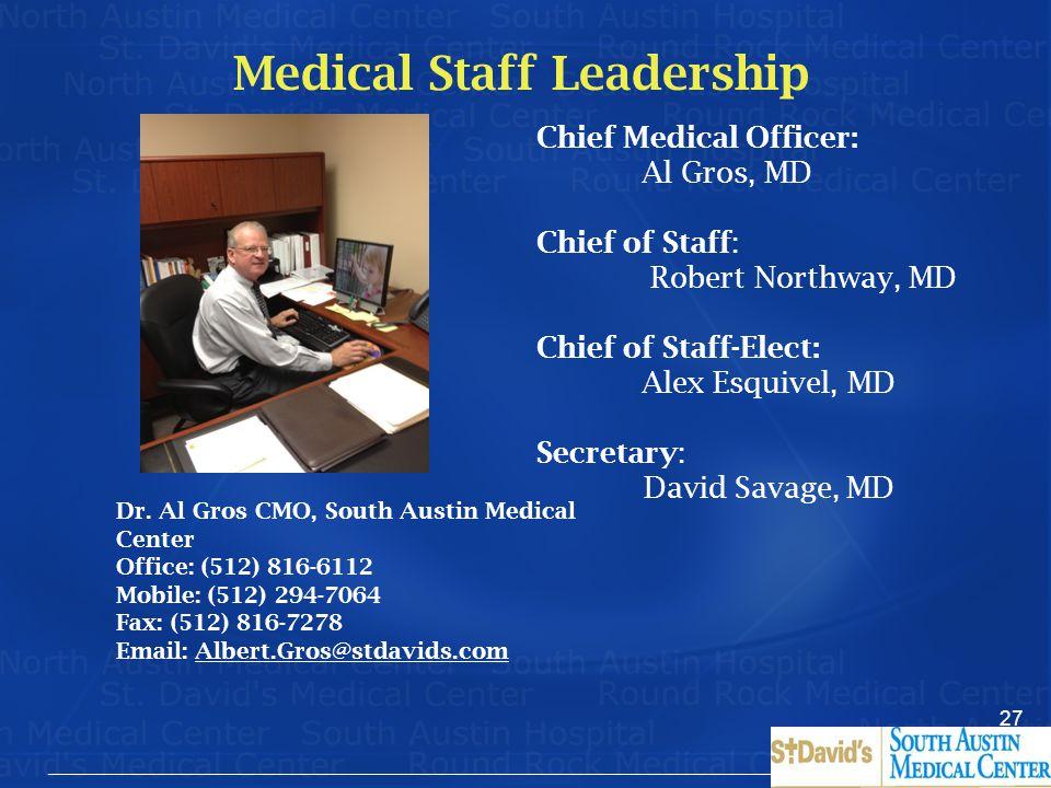 Medical Staff Leadership
