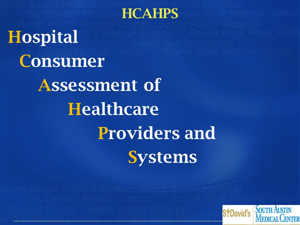 Hospital Consumer Assessment of Healthcare Providers and Systems