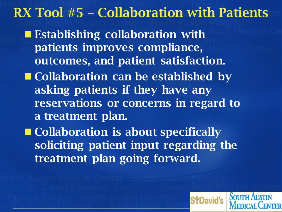 RX Tool #5 – Collaboration with Patients