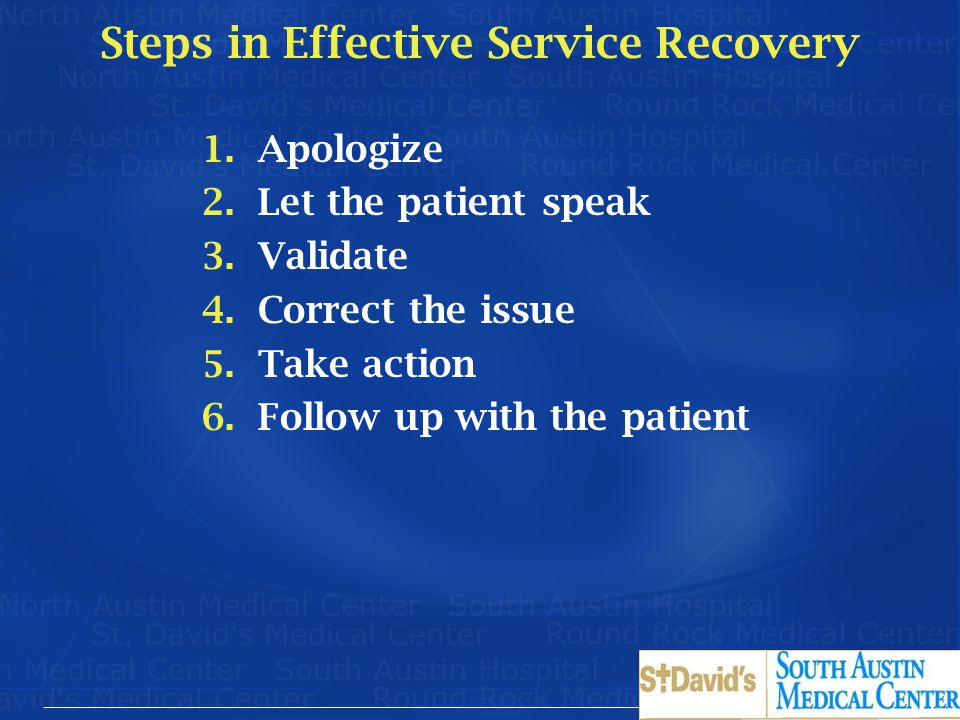 Steps in Effective Service Recovery