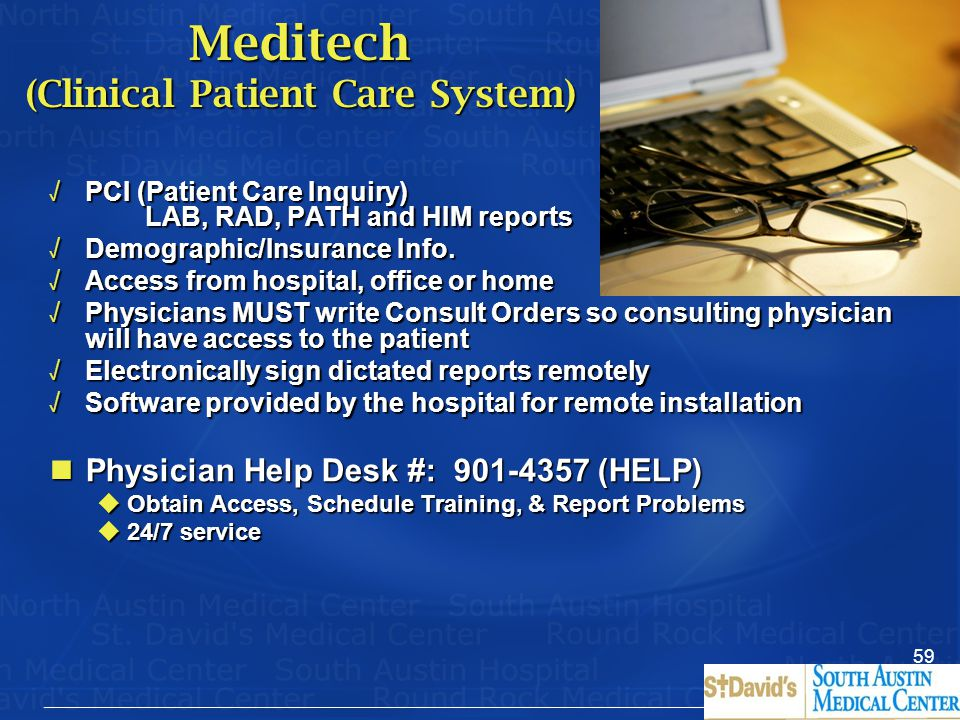 Meditech (Clinical Patient Care System)