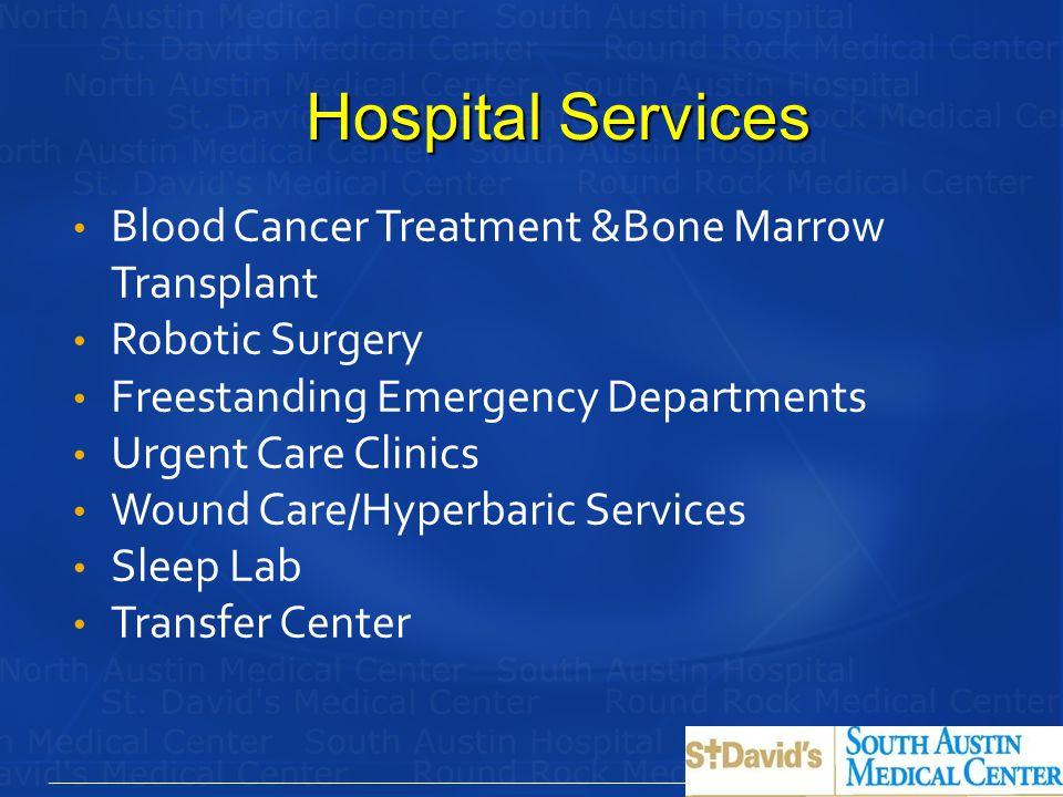 Hospital Services Blood Cancer Treatment &Bone Marrow Transplant