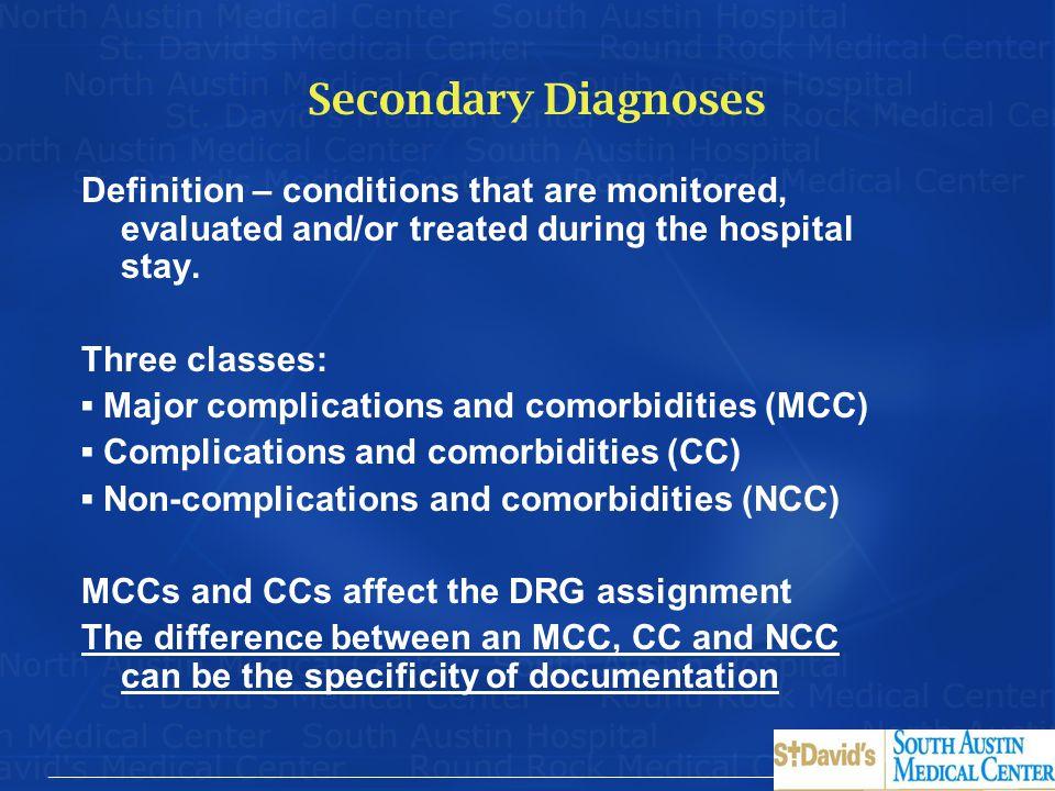 Secondary Diagnoses