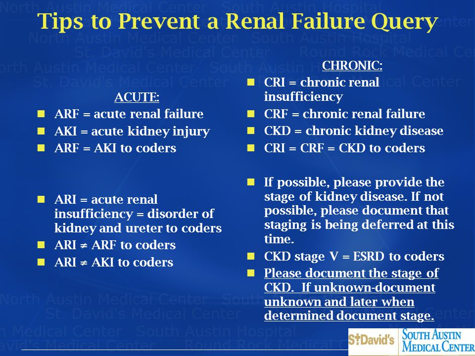 Tips to Prevent a Renal Failure Query