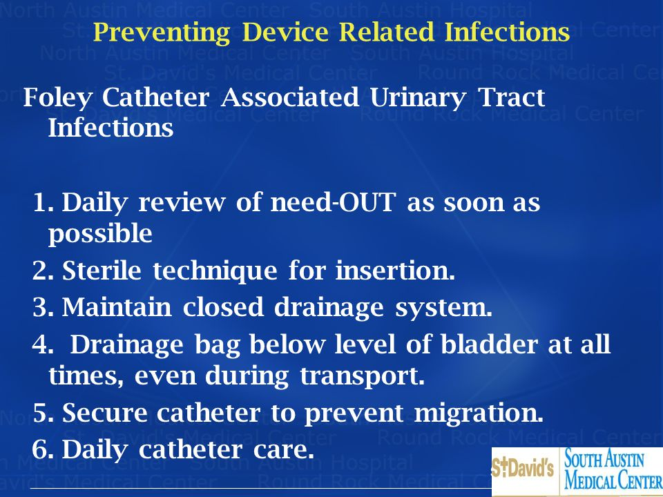 Preventing Device Related Infections