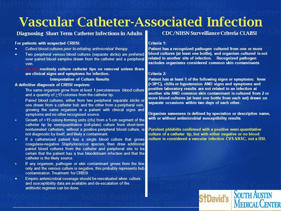 Vascular Catheter-Associated Infection