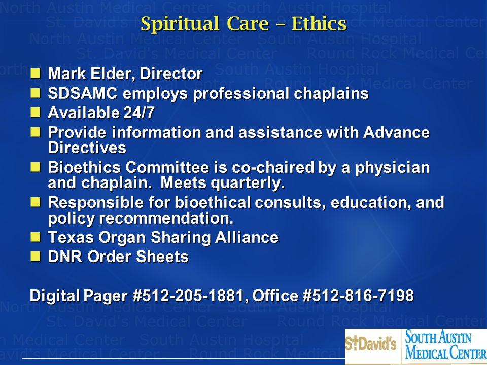 Spiritual Care – Ethics